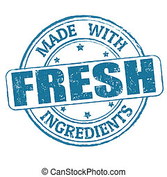 Hecho con ingredientes frescos sello