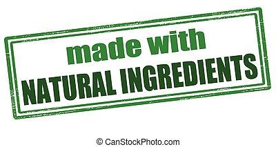 Hecho con ingredientes naturales