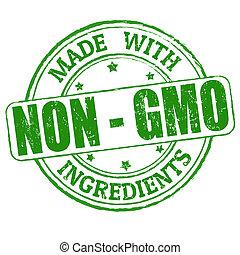 Hecho con ingredientes no-GMO sello