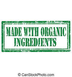 Hecho con ingredientes orgánicos