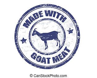 Hecho con sello de carne de cabra