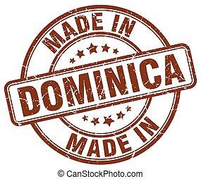 Hecho en dominicana grunge marrón sello redondo