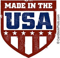 Hecho en el sello de EEUU