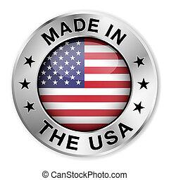 Hecho en la placa de plata de EEUU