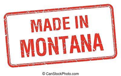 Hecho en Montana en la Plaza Roja sello aislado