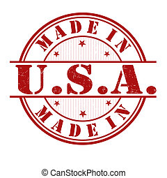 Hecho en sello de USA