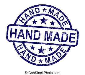 hecho, estampilla, hechaa mano, mano, ilustraciones, original, exposiciones