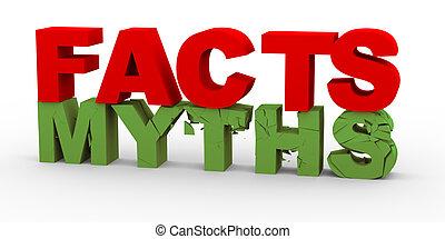 hechos, mitos, encima, 3d