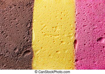 Helado de color napolitano