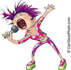 hembra, cantante pop