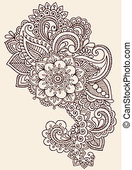 Henna mehndi diseño de tatuajes