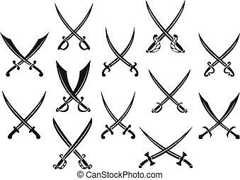 heráldica, espadas, sabres