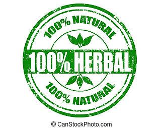 herbario, estampilla, 100%