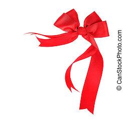 Hermosa cinta roja y arco aislado