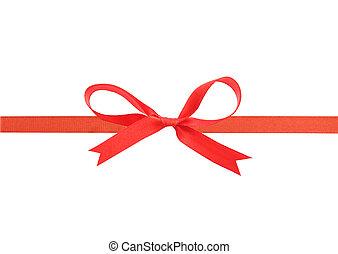 Hermosa cinta roja y arco