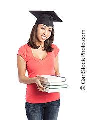 Hermosa estudiante universitaria