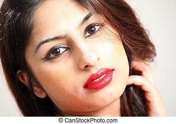 Hermosa joven india