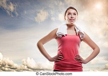 Hermosa mujer deportiva