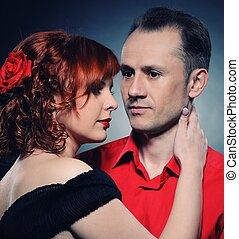 Hermosa pareja enamorada