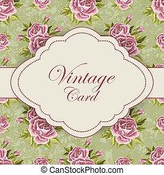Hermosa tarjeta vintage