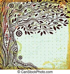 Hermoso árbol de la vida