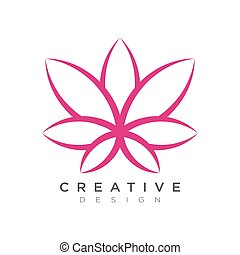 hermoso, abtrak, utilizado, hoja, ser, marca, etiqueta, diseño, lata, logotipo, o