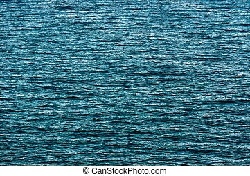 hermoso, azul, superficie, agua, textura, plano de fondo