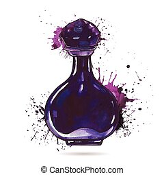 hermoso, bottle., perfume