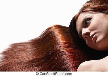 Hermoso cabello saludable