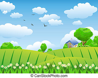 Hermoso campo