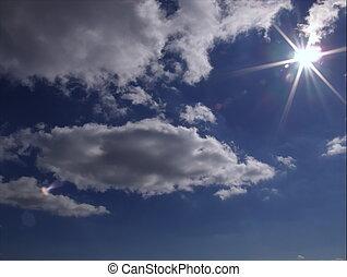 Hermoso cielo azul