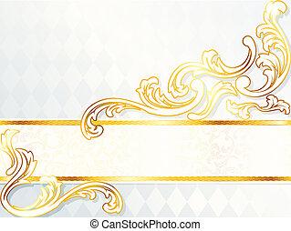 Hermoso estandarte de boda horizontal
