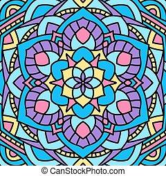 hermoso, excepcional, pattern., mandala., plano de fondo, circular