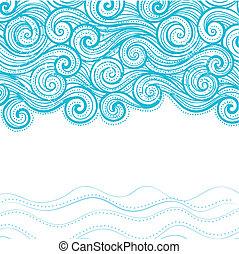 Hermoso fondo de olas