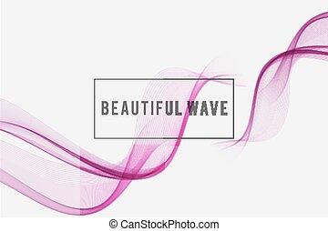 Hermoso fondo de onda