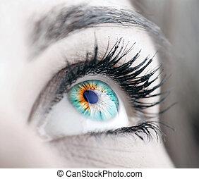 Hermoso gran ojo