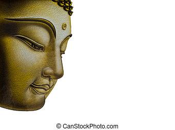 hermoso, imagen, buddha, cara