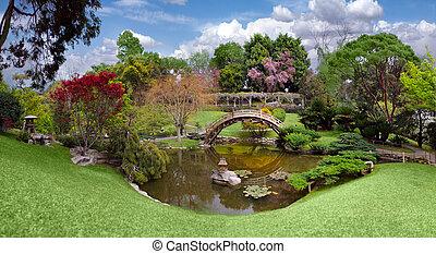 hermoso, jardín, californ, biblioteca, huntington, botánico