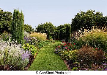 hermoso, jardín