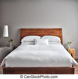 hermoso, moderno, limpio, dormitorio