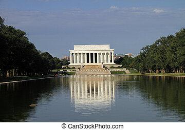 Hermoso monumento a Lincoln