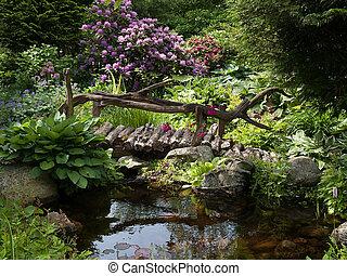 Hermoso paisaje de jardín