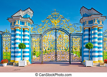 hermoso, parque, catherine, king's, puerta, vista