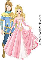 hermoso, príncipe, princesa