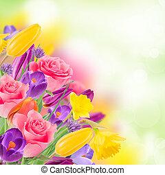 Hermoso ramo de flores.