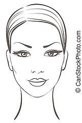 Hermoso rostro de mujer