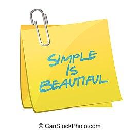 hermoso, simple, mensaje, poste, ilustración