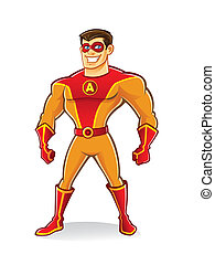 Hermoso superhéroe