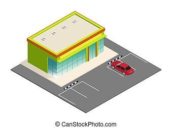 Hermoso supermercado isometrico