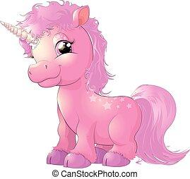 Hermoso unicornio rosa
